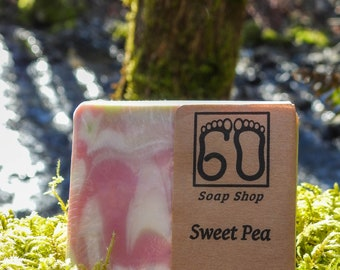 Sweet Pea cold process soap!