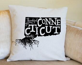 Connecticut Pillow Cover, Connecticut Decor, Connecticut, Housewarming Gift, Pillow, Home Pillow, State Pillow, Pillow Cover,Wedding Gift
