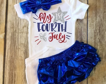 My first Fourth of July outfit or onesie