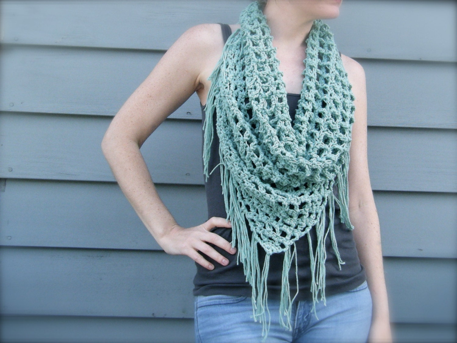 DIY Crochet Pattern: summer scarf triangle scarf bandana