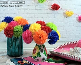 FIESTA Tissue Paper Flowers (12 count)