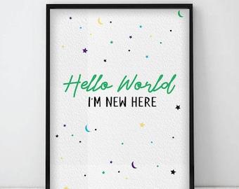 Hello world i'm new here print