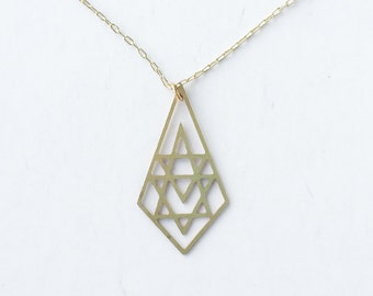 Geometric Briolette Necklace | ATL-N-124