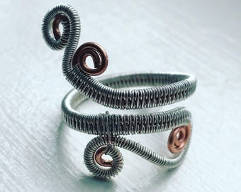 Wire wrapped ring (any size)
