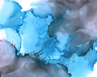 Blue Sky Ink Print
