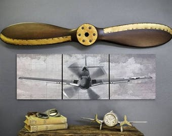 "P-51 Mustang Triptych and 40"" Propeller Set"