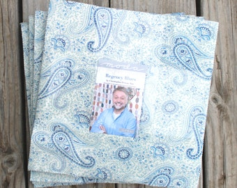 "Regency Blues by Christopher WIlson-Tate for Moda Layer Cake 10"" Squares"