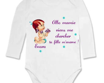 Hello Grandma Bodysuit.. .personnalise with name