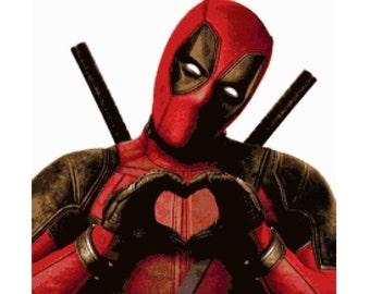 Deadpool Cross Stitch Pattern
