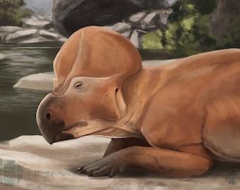 Protoceratops Illustration impression Mini