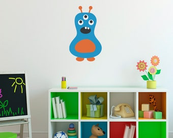 Monster Wall Decal - Monster Wall Art - Children Wall Decals - Printed Decal - 9