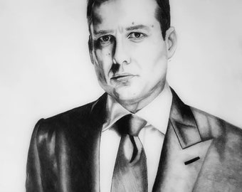 Harvey Specter Tonal Drawing Original