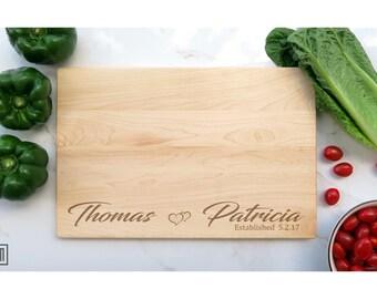 Personalized Cutting Board- Custom Wedding Gift, Custom Engraved Cutting Board, personalized couples cutting board, bridal gift