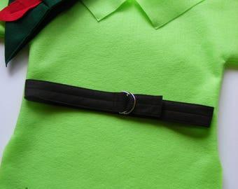 Lime Green Peter Pan Costume Robin Hood Costume Elf Elves Dress up