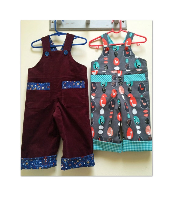 Baby boy romper sewing pattern Ollie Overalls sizes 3+months to 4 years,  downloadable pattern for baby romper