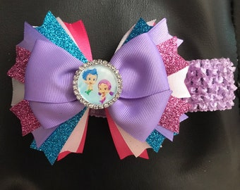 Bubble Guppies Headband or Hairbow
