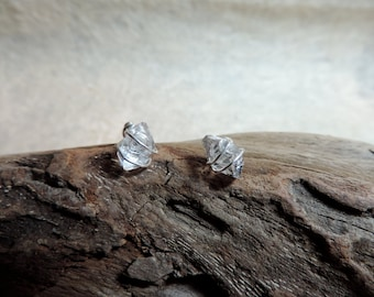 Wire wrapped Herkimer Diamond Stud Earings