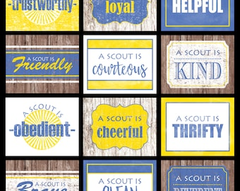 Printable Scout Law 8x10 Posters