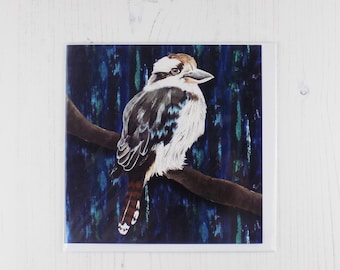 Painted Kookaburra Greetings Card