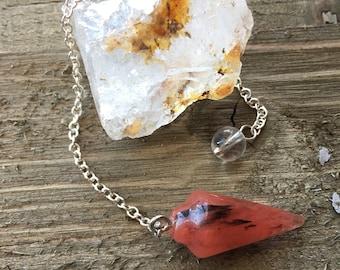 LAVA QUARTZ PENDULUM- Crystal Pendulum