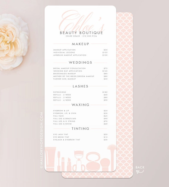 Grace Makeup Artist Or Cosmetologist Services Menu  Salon