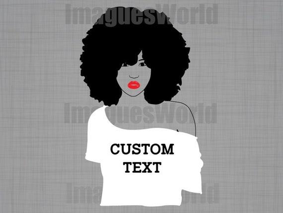 Custom afro SVG afro w...
