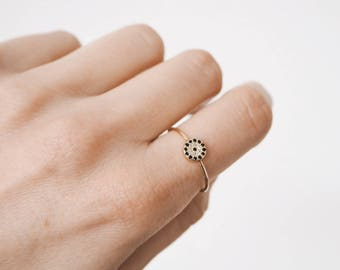Evil eye ring, gold ring, silver ring, gold evil eye ring, dainty jewelry, minimal ring, R085