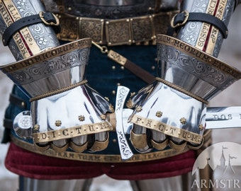 """22% DISCOUNT! Medieval Armor Gauntlets """"King's Guard""""; Medieval Armor Sca gloves"""