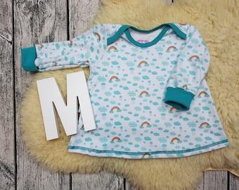 Baby tunic, American neckline, long sleeve tunic, longsleeve, gift, baby, Mitwachstunkia, tunic, Rainbow, Rainbow, Clouds, cloud