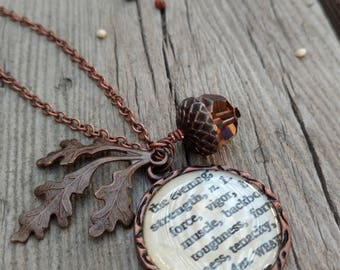 Acorn Strength Necklace