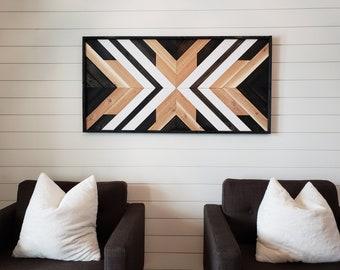 Wood Wall Art I Wood Wall Decor I Large Wood Art I Chevron Wood Decor I Pick up Only