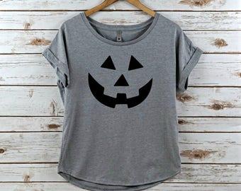 Halloween t-shirt, Womens halloween shirt, halloween shirt, tee shirt, t shirt, womens, women's shirt, halloween, jack o lantern, t-shirt