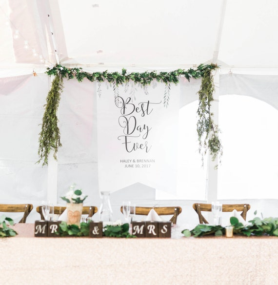Last Name Wedding Themes: Wedding Backdrop Sign Banner Decor Personalized Names Hanging