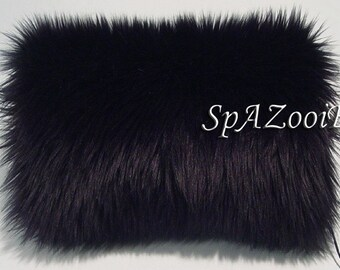 Black fur muff faux fur bridal hand muff wedding muff hand warmer feathery faux fur