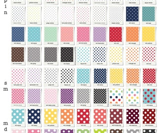 Crib fitted sheets or Skirt // Dots collection // Choose your fabric // 72 colors