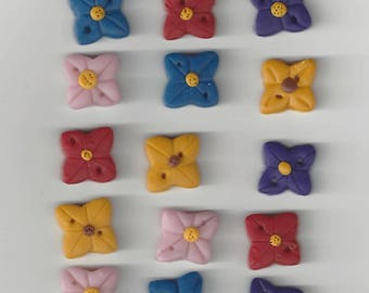 Clearance - Multi Color Flowers (15) by Honey Bee Creations