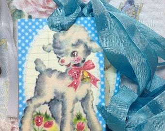 Glittered Easter Tags, Easter Lamb, Easter LAmbs, Vintage Easter, Vintage Easter Images, Retro Easter Tags, Easter Theme tree, Easter