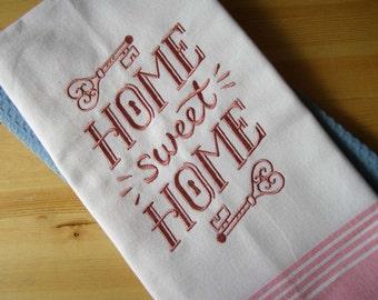 Home Sweet Home Chalkboard Kitchen Towel