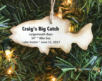 Personalized Fishing Ornament, Personalized Fish Ornament, Fish Gifts for Fisherman, Personalized Fisherman Gifts, Personalized Fishing Gift