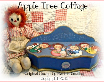 """E Pattern - Martha Smalley's Apple Tree Cottage Designs - """"Four Season Old Raggedy Annies"""""""