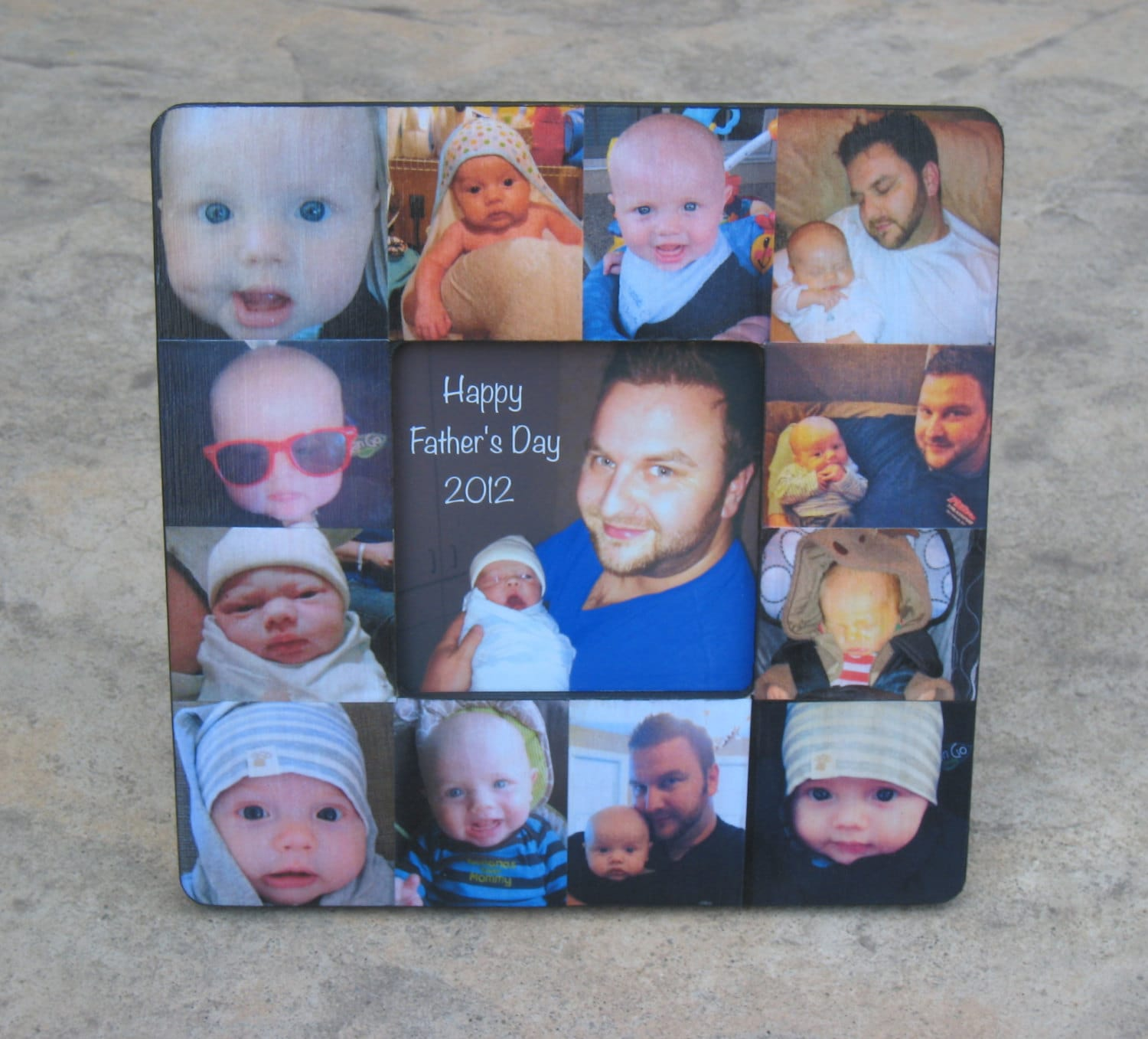Personalized Father\'s Day Picture Frame Unique Baby\'s