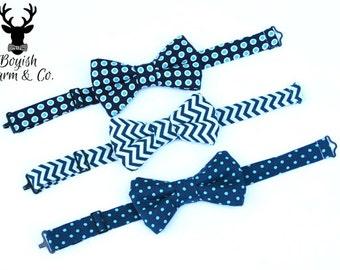 Boys Navy  Bow Tie, Boys Navy Blue Bow Tie, Toddler Navy Bow Tie, Boys Blue Bow Tie, Ring Bearer Outfit, Baby Bow Tie,
