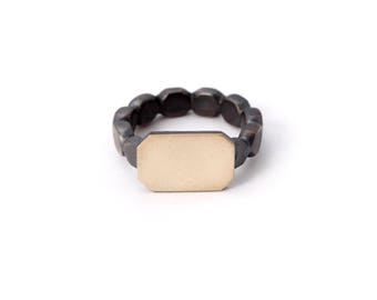 Unique Signet Ring for Men in Gold and Silver Engravable, in Any Ring Size
