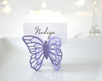 Butterfly Place Cards - Purple
