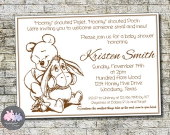 Winnie the pooh baby shower invitations etsy filmwisefo Images