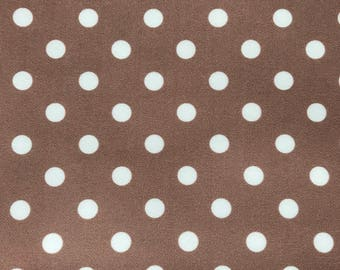 SCUBA FABRIC - Latte Polka Dot