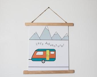Let's Adventure Poster Print
