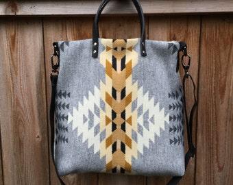 Tribal Wool Cross Body Bag - Rancho Arroyo Silver - Womens Handbag - Shoulder Bag - Boho Tribal Bag - Tribal Wool Tote Bag - Womens Tote Bag