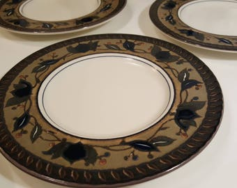 Saucer Plate // Mikasa Intaglio CAC01 Arabella // boho country cottage natural cabin dishes : mikasa arabella dinnerware - pezcame.com