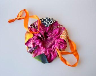 Rainbow Shimmer Batik Chrysanthemum Bag